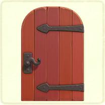 赤い金具のドア