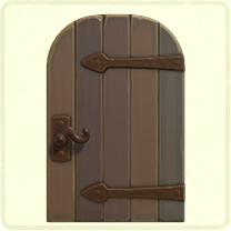 グレーの金具のドア