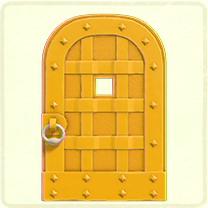 黄色い鉄のドア