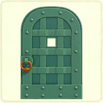 緑の鉄のドア