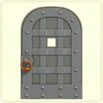グレーの鉄のドア