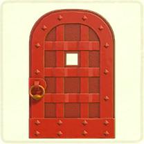 赤い鉄のドア