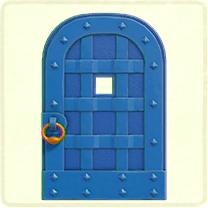 青い鉄のドア