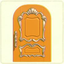 黄色いリッチなドア