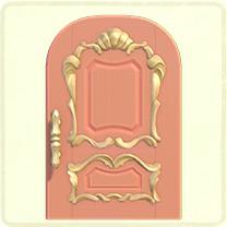 ピンクのリッチなドア