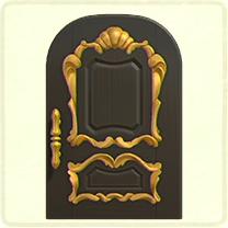 黒いリッチなドア