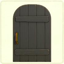 黒い素朴なドア