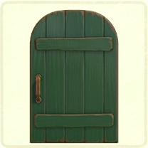 緑の素朴なドア