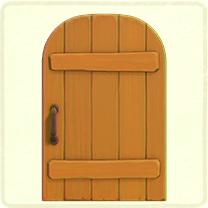 メープルの素朴なドア