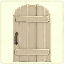 白い素朴なドア