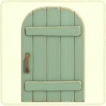 薄緑の素朴なドア
