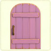 薄紫の素朴なドア