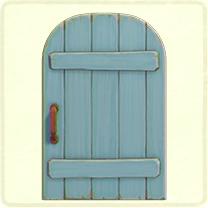 青い素朴なドア