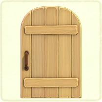 素朴なドア