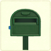 緑の普通のポスト