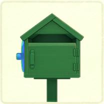 緑の木のポスト