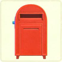 赤い大きなポスト