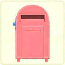 ピンクの大きなポスト
