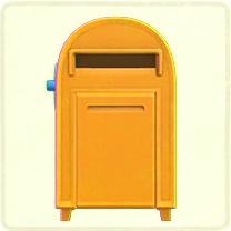 黄色い大きなポスト