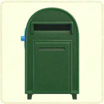 緑の大きなポスト