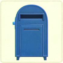青い大きなポスト
