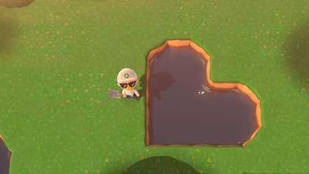 ハート型の池を作ることも出来る