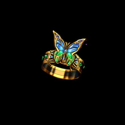 ネルリック蝶の指輪【青】