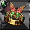 ネルリック蝶の指輪【赤】の画像