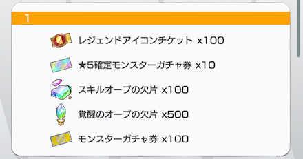 ランキング報酬の画像