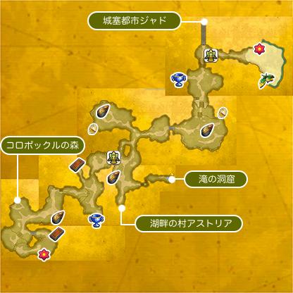 ラビの森のマップ