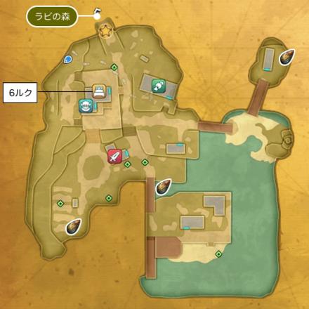 湖畔の村アストリア(崩壊前)のマップ