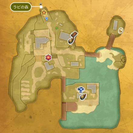 湖畔の村アストリア(崩壊前)のマップ2