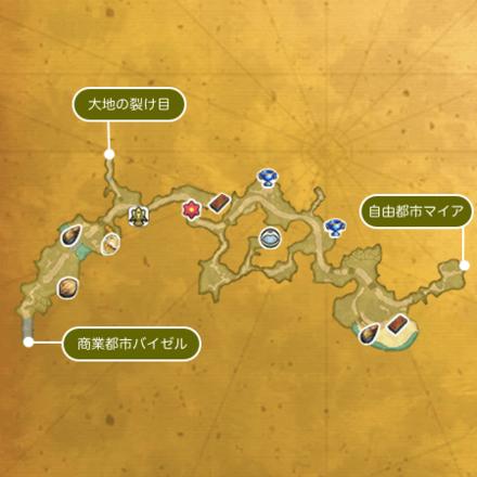 黄金の街道のマップ