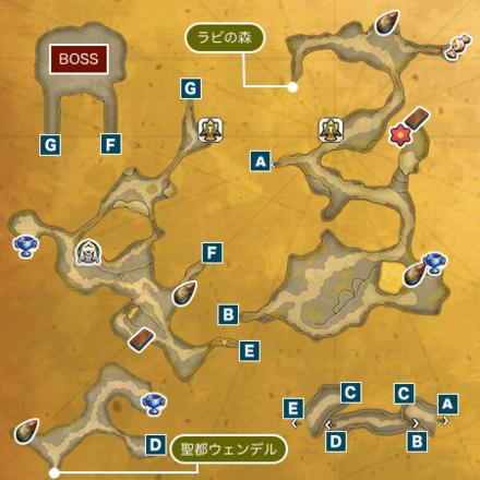 滝の洞窟Iのマップ