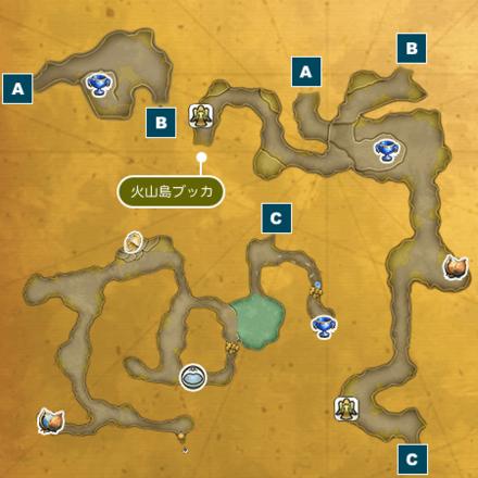 岸辺の洞窟Iのマップ