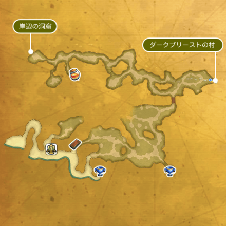 火山島ブッカのマップ