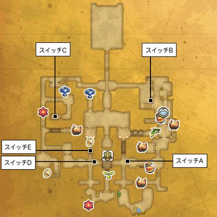 光の古代遺跡のマップ