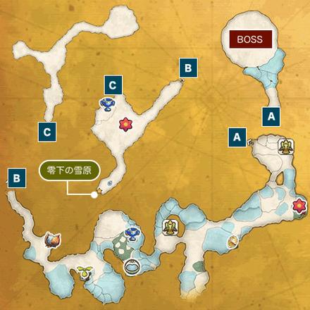 氷壁の迷宮Iのマップ