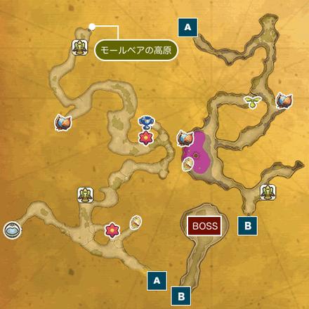 宝石の谷ドリアンIのマップ