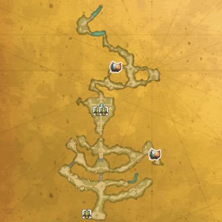 マナの聖域(崩壊前)のマップ