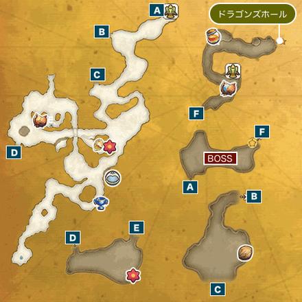 ガラスの砂漠Iのマップ