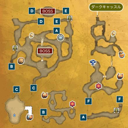 暗闇の洞窟Iのマップ