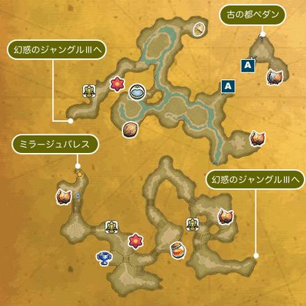 幻惑のジャングルIのマップ