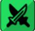 緑属性<br>アタッカーのアイコン