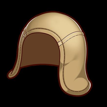 麻の帽子の画像