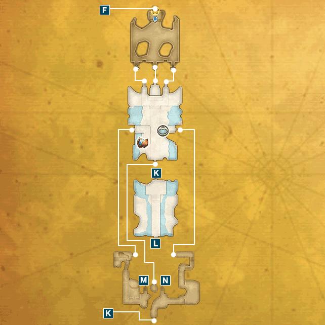 アニスの禁域I(魔法王国アルテナ)のマップ