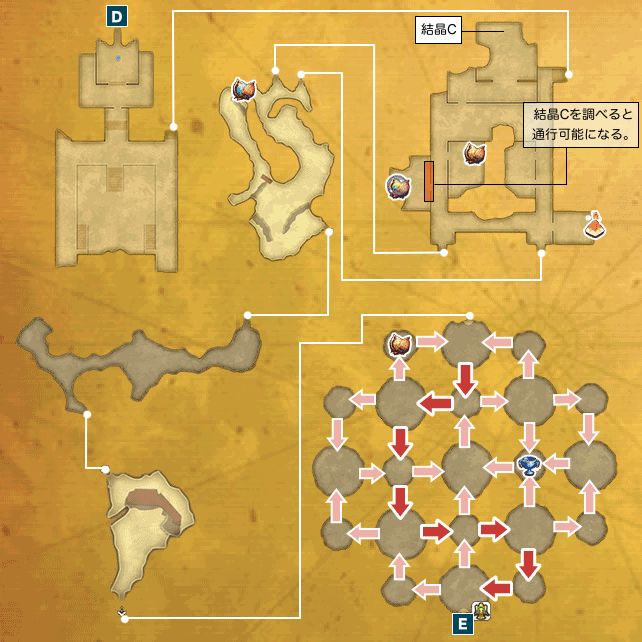アニスの禁域I-a(砂の要塞ナバール)のマップ