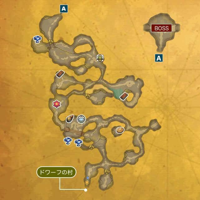 ドワーフのトンネルIのマップ