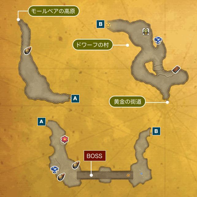 大地の裂け目Iのマップ