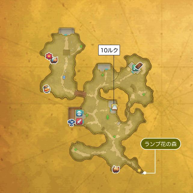 花畑の国ディオールのマップ